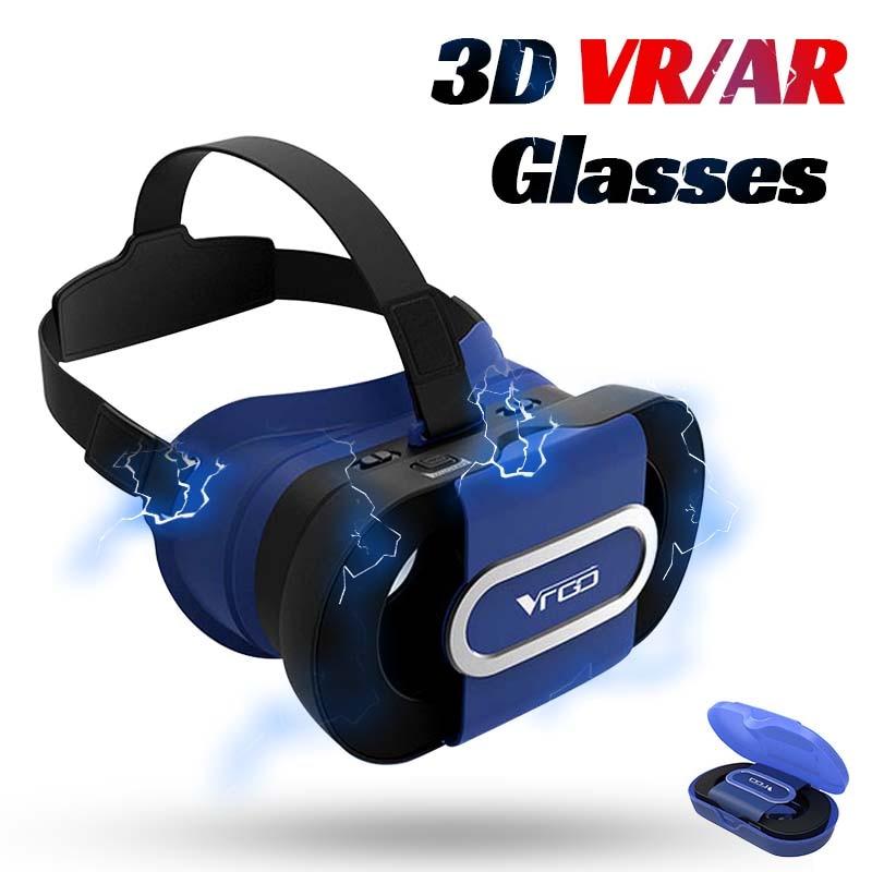 Vidros portáteis do silicone vr da realidade virtual de dobramento dos vidros 96 ° mini da ar de vr 3d para telefones celulares de android ios 4-6 polegadas