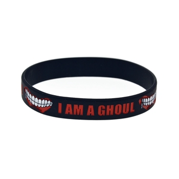 Fashion Japan Anime Tokyo Ghoul Silicone Rubber Bracelet Bangle Wristband Cosplay Jewerly Accessories Gift 2