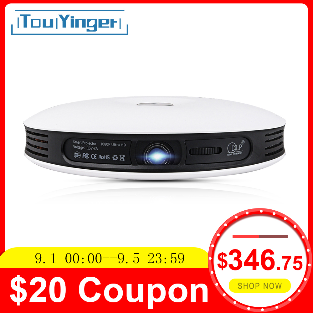 Touyinger Home Cinema Beamer Dlp-Projector Video-Wifi HDMI Mini Outdoor Android Portable