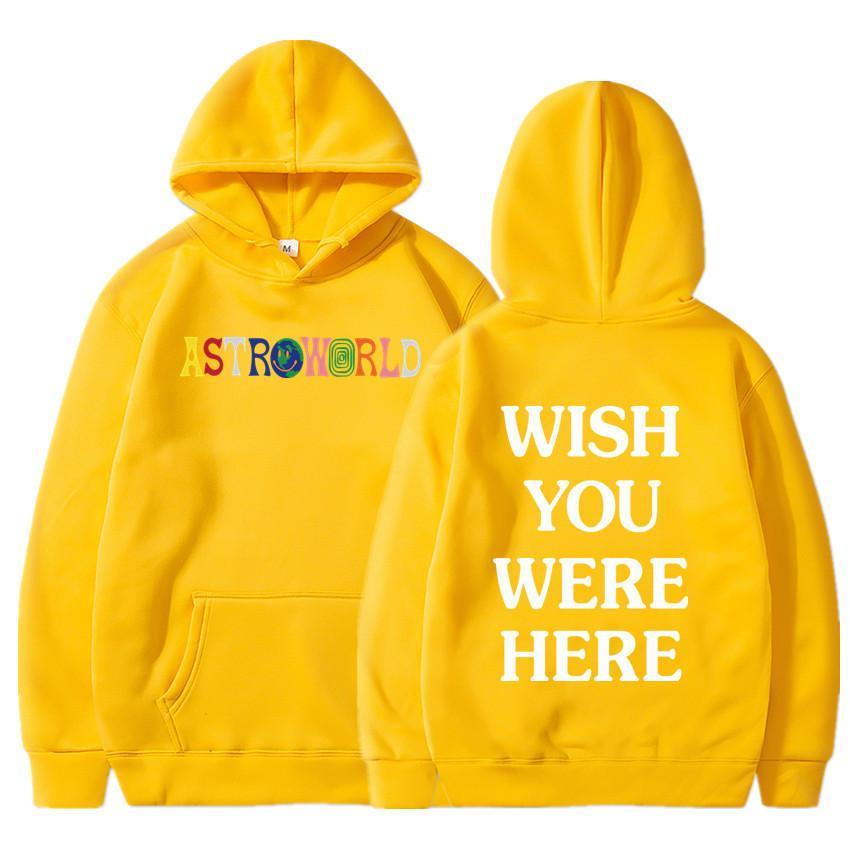 TRAVIS SCOTT ASTROWORLD WISH YOU WERE HERE HOODIES fashion letter ASTROWORLD HOODIE streetwear Man woman Pullover Sweatshirt 1