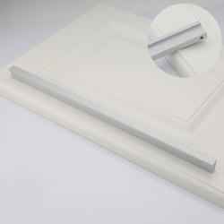 Nowoczesne srebrne długie minimalistyczne szuflada szafki niewidoczne uchwyty szafa Edge Pen ukryty uchwyt 224/256/288/320/480mm w Uchwyty szafek od Majsterkowanie na