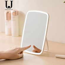 Jordan Judy Makeup Mirror with LED Desktop Mirror with Touch Switch Battery Cosmetic Operated Stand Dormitory Mirror
