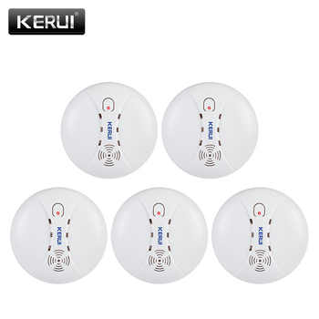 KERUI 5pcs high quality Wireless Smoke Detector Fire Protection Sensor For Home Warehouse Shop GSM WIFI Security Alarm System - DISCOUNT ITEM  48 OFF Security & Protection