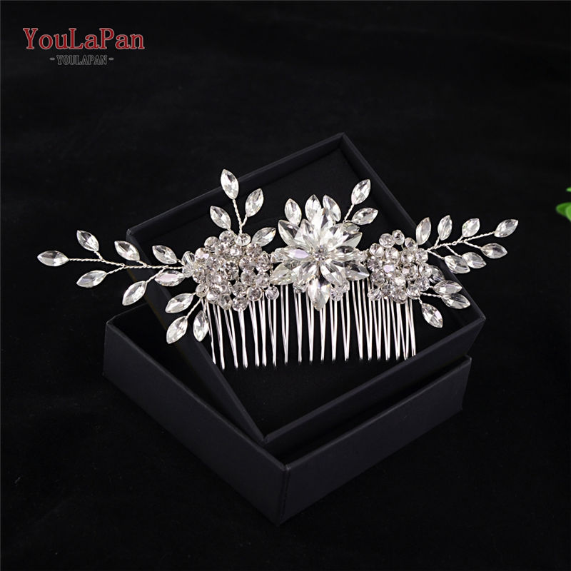 YouLaPan Many Style Crystal Simulated Pearl Hair Comb For Wedding Hair Accessories Handmade Bride Hair Jewelry Headpieces Tiara