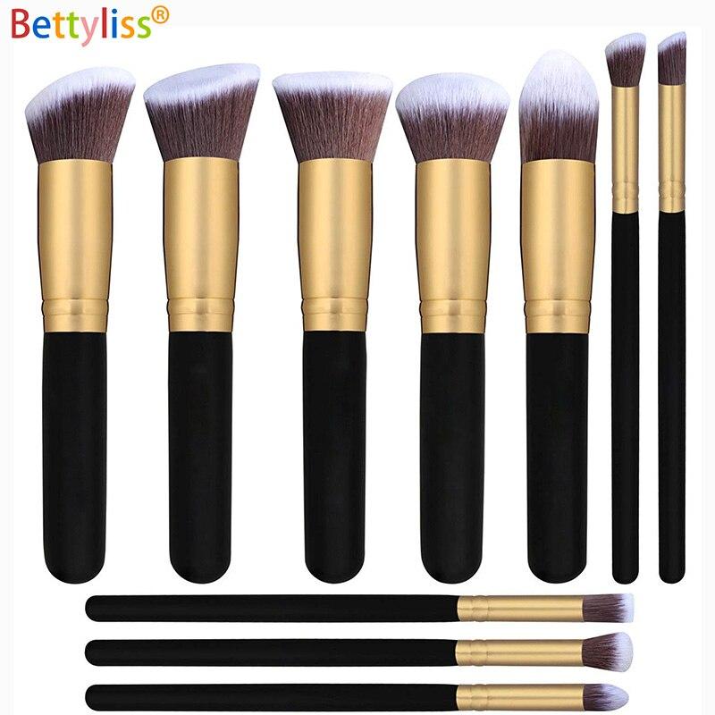 Bettyliss 10pcs Makeup Brushes set Professional Powder Foundation Eyeshadow Make Up Brushes Cosmetics Soft Synthetic Hair