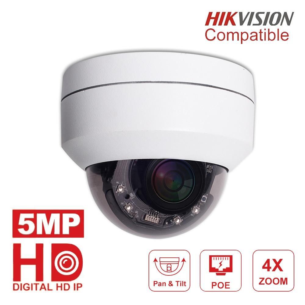 Hikvision Compatible 5MP Mini Dome PTZ IP Camera 4X Zoom 2.8-12mm Ourdoor 45M IR CCTV Video Surveillance Security Cameras