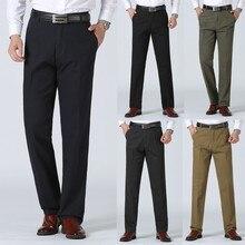 Мужские повседневные брюки в новом стиле в деловом стиле, однотонные, облегающие деловые брюки, Брендовые мужские большие комфортные брюки 29-40