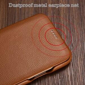 Image 3 - Flip Lichee Muster Rindsleder Fall Für iphone Xs 11 Pro Max MYL 32W Luxus Folio Leder Fall Abdeckung Für iphone XR 8 Plus