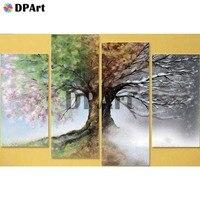 4PCS 3D Diamond Painting 5D Full Square/Round Drill Four Season Tree Daimond Embroidery Painting Cross Stitch Mosaic Crysta M856