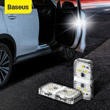 Baseus-luz de advertencia de puerta de coche, luces Flash anticolisión, señal magnética inalámbrica, 6 LED, 2 uds.