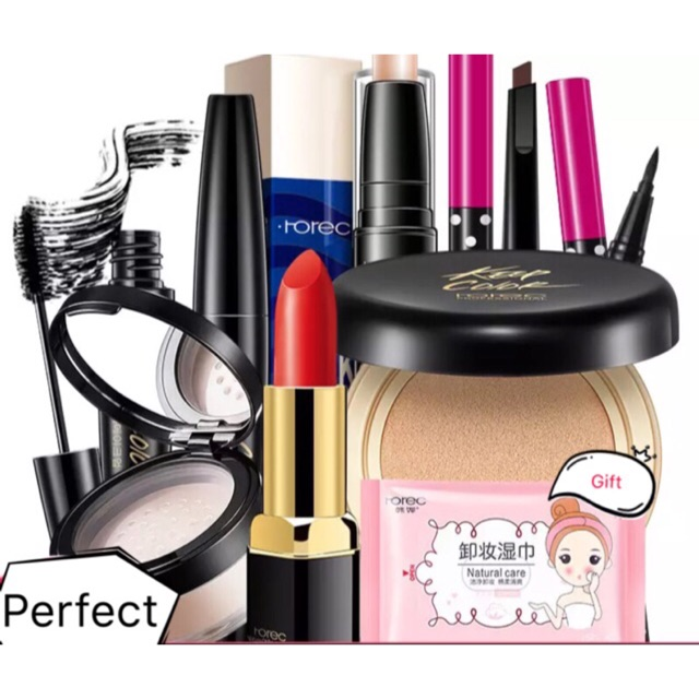 7 pcs lote rorec maquiagem definir belo presente