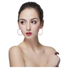 Hoop Earrings Wild Simple Ear Rings Decorations Jewelry Women Multiple Colors Plastic Trendy Titanium Alloy Clip Fashion
