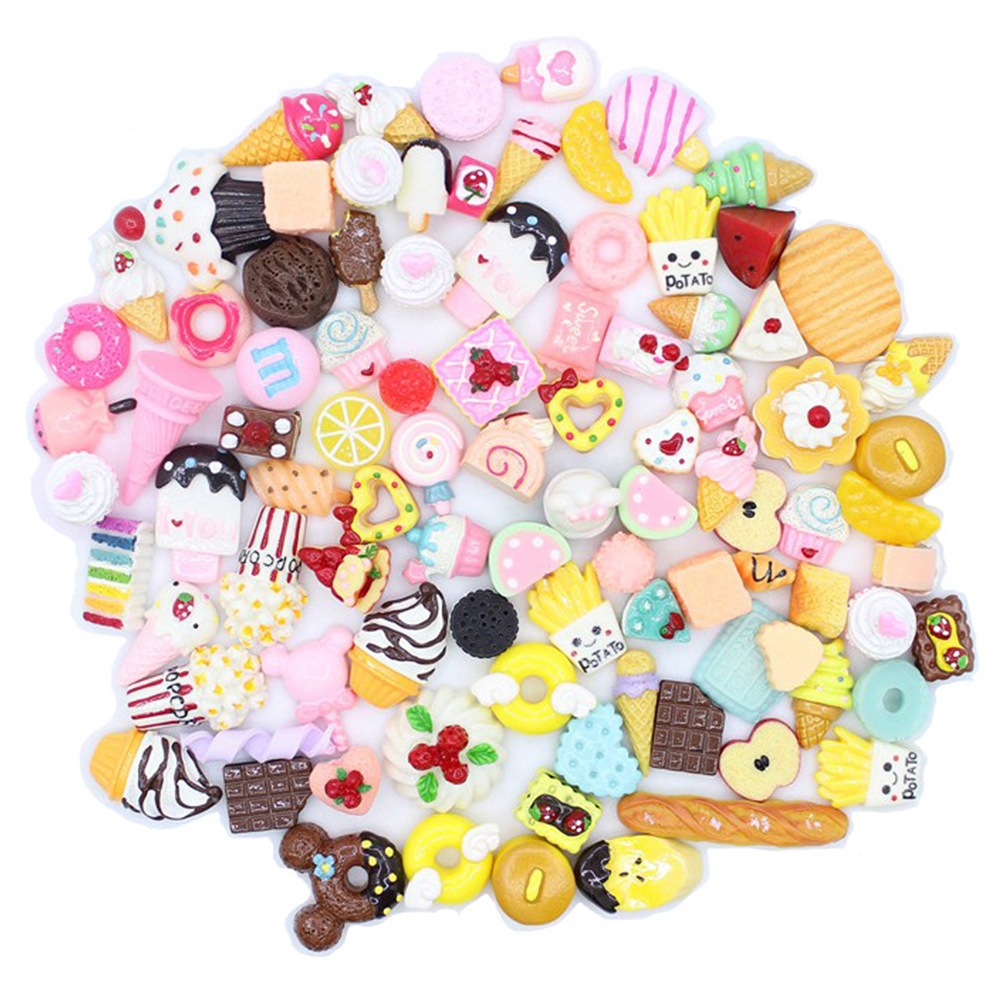 Jewelry Accessory Slime Beads Resin Candy Color Multishape DIY Flatbacks Cute Scrapbooking
