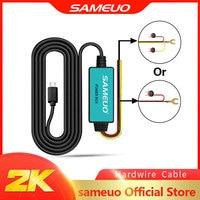 SAMEUO Hardwire kabel 12V Micro USB Auto Ladegerät 3,5 M Harten draht Kit für Auto DVR Dash Cam Dashcam auto Kamera Ladekabel