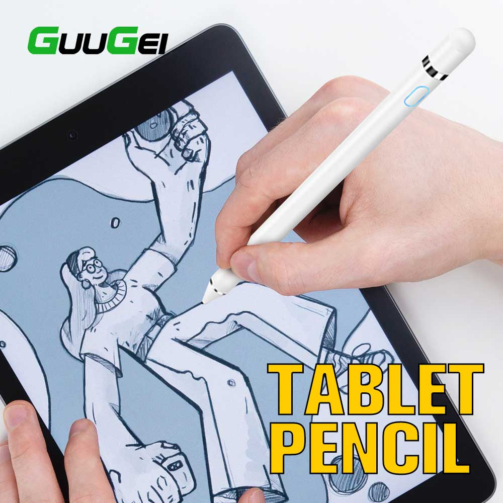 GUUGEI Active Stylus Touch Pen For Apple IPad Pro 11 12.9 10.5 9.7 High Precision Smart Capacitance Pencil For Xiaomi Tablet