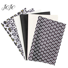 JOJO BOWS 22*30cm 6pcs Faux Synthetic Leather Fabric Sheet Halloween Printed DIY Hair Bows Apparel Bag Sewing Festive Decoration