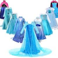 Princesa elsa vestido para meninas crianças natal cosplay neve rainha 2 elza anna traje crianças carnaval festa de aniversário roupas