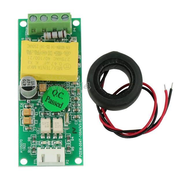 AC dijital çok fonksiyonlu metre Watt güç Volt Amp akımı Test modülü PZEM 004T Arduino için TTL COM2 \ COM3 \ COM4 0 100A 80 260V
