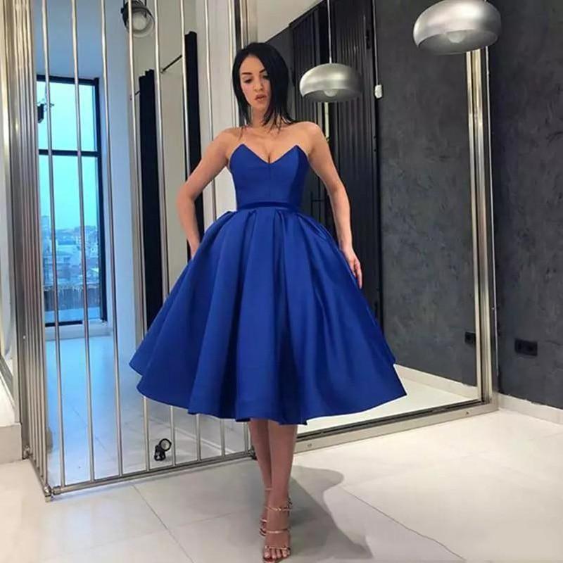 Sevintage Cheap Vintage Women Cocktail Dresses High Low Satin Lace Short Prom Dress Sweetheart Party Dress Abendkleider 2020
