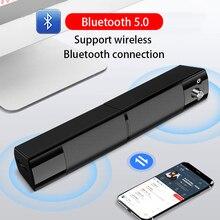 V-117 USB Soundbar Wireless Bluetooth Speaker PC Home Theater System Surround Sound Bar for tv External Mic Computer Speakers