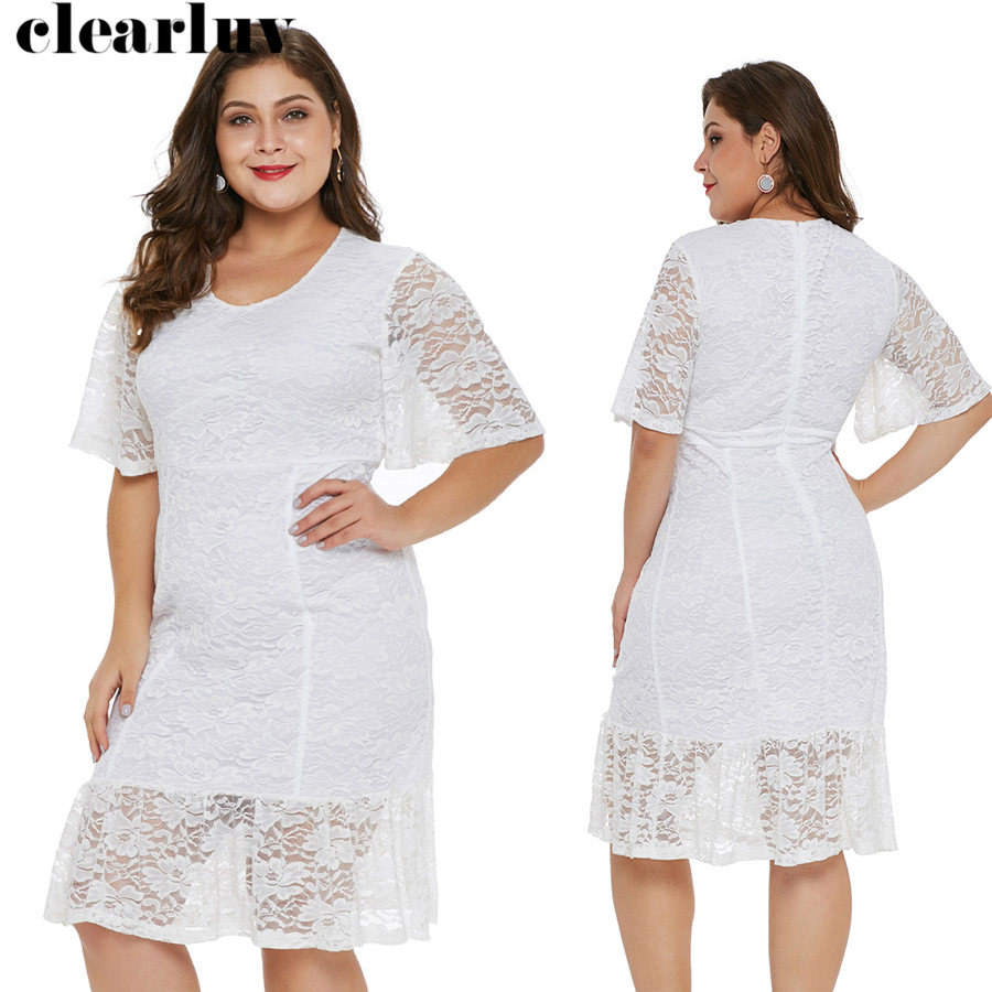 Lace   Prom     Dress   Short Knee-Length Vestidos De Gala T028 2019 Plus Size Half-sleeve   Dresses   Women Party Night Elegant   Prom   Gowns