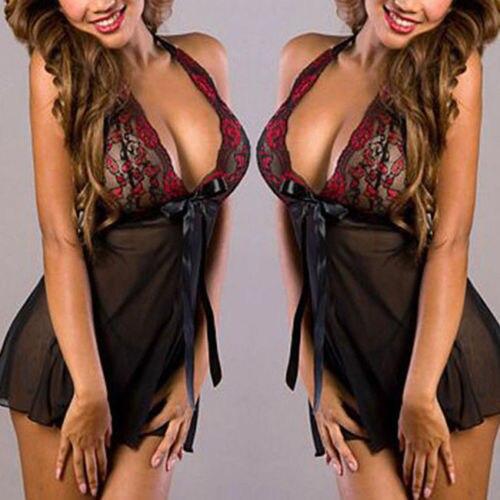 Горячая распродажа высокое качество модное пикантное Платье женское кружевное белье стринги Ночная рубашка Повседневная Мягкая Пижама BabyDoll платье плюс размер