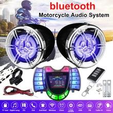 Bluetooth Motorrad Audio Stereo Sound Anti diebstahl Alarm System Wasserdichte Verstärker Lautsprecher TF FM MP3 Musik mit Fernbedienung