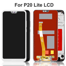 100% Test Black/White 5.84'' LCD for Huawei P20 Lite Display Touch Screen Digitizer Assembly for Nova 3E Replacement Parts for huawei p20 lite usb plug charger board microphone module cable connector for huawei nova 3e digitizer phone parts repair kit