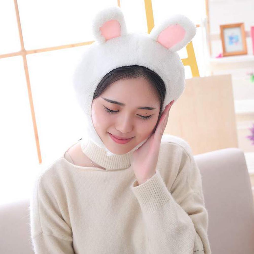Plush Rabbit Frog Animal Earflap Warm Beanie Cap Hat Costume Parties Supplies For Kids Girls Girlfriend Women Accessories