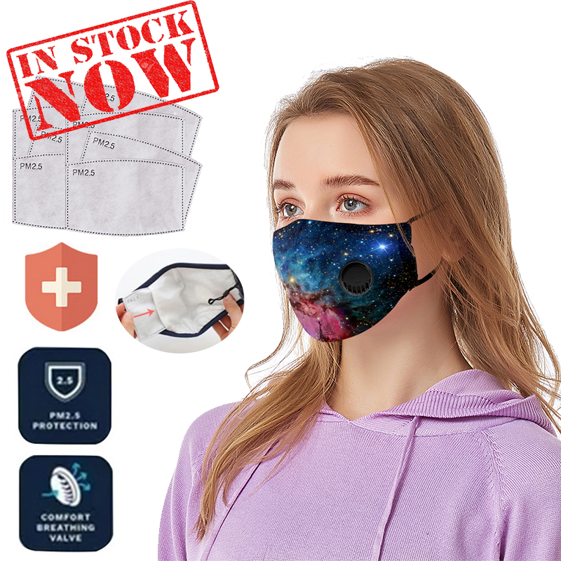 Cotton PM2.5 Filter Reusable Mouth Mask Anti Dust Mask Activated Carbon Filter Pad Windproof Mouth-muffle Washable Face Masks
