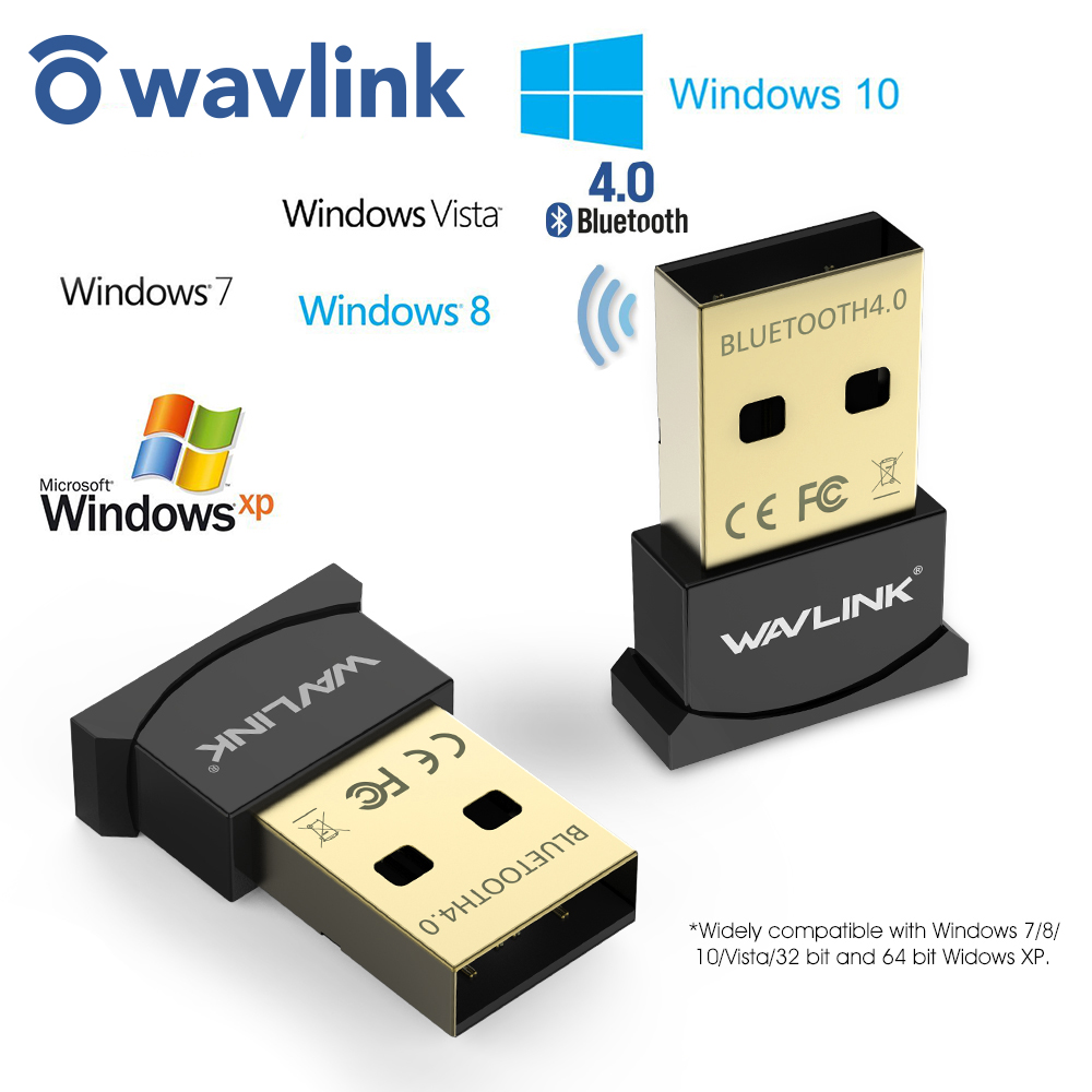 Wavlink Mini Usb Bluetooth Adapter V4.0 Dongle Low Energy USB Adapter Gold-Plated Plug &Play Micro Dongle for PC Laptop  Desktop
