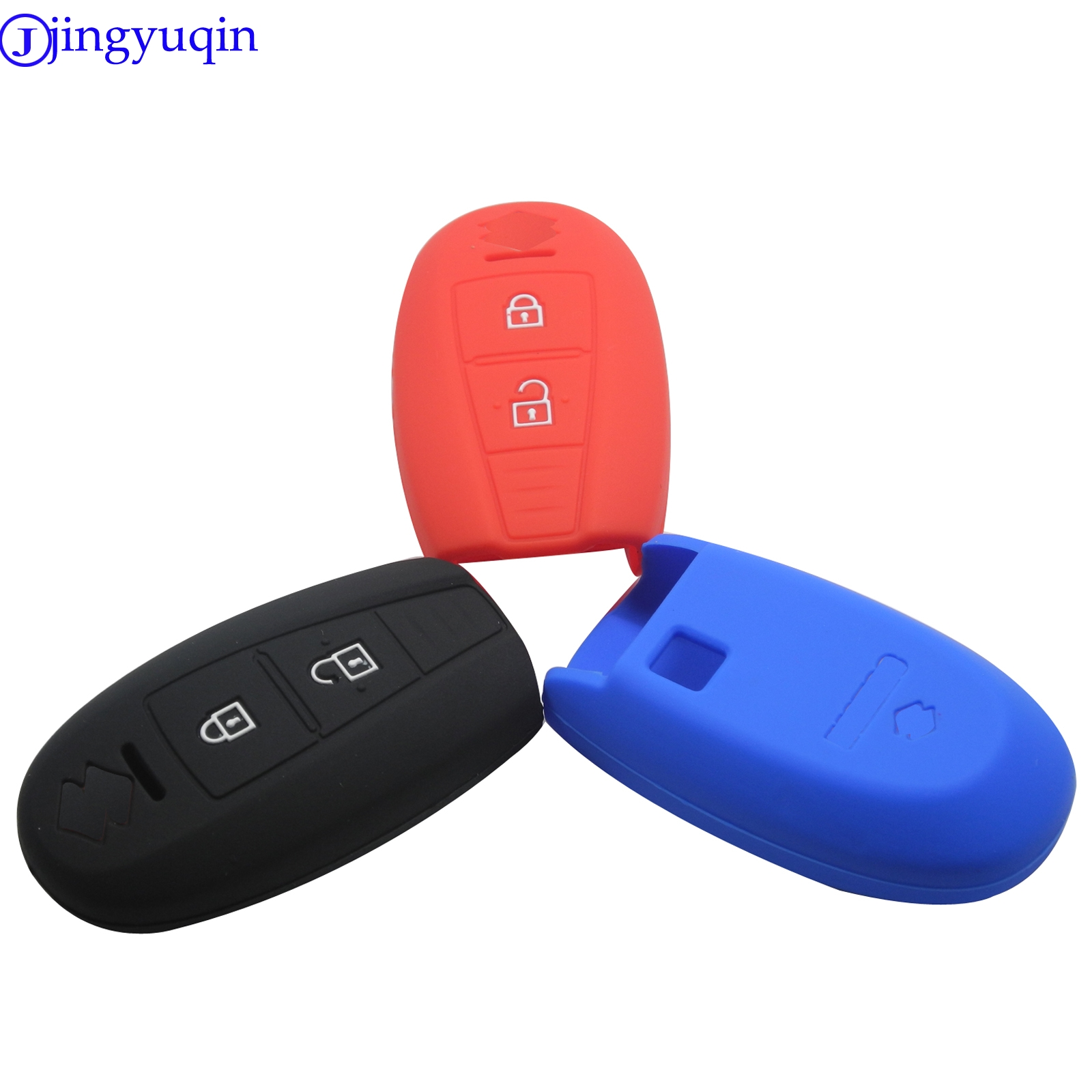 jingyuqin New <font><b>Remote</b></font> Car <font><b>Key</b></font> Fob Silicone Case Cover Protector For <font><b>SUZUKI</b></font> Swift Sport SX4 SCORSS 2 Button Car Accessories image