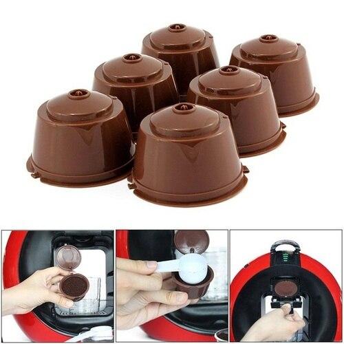 1 шт. многоразовая Капсульная кофемашина, фильтр для кофейной чашки Nescafe, многоразовый держатель для кофейной чашки, фильтр для капсулы для ...