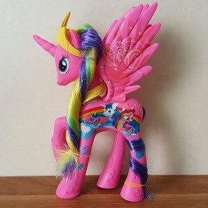 Unicorn Princess Cadance Bright Cartoon Figure Big Anime Small Eyes Pvc Toy Horse 14CM High