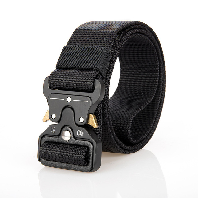 Tactical Belt Nylon Military Army belt Outdoor Metal Buckle Police Heavy Duty Training Hunting Belt 125