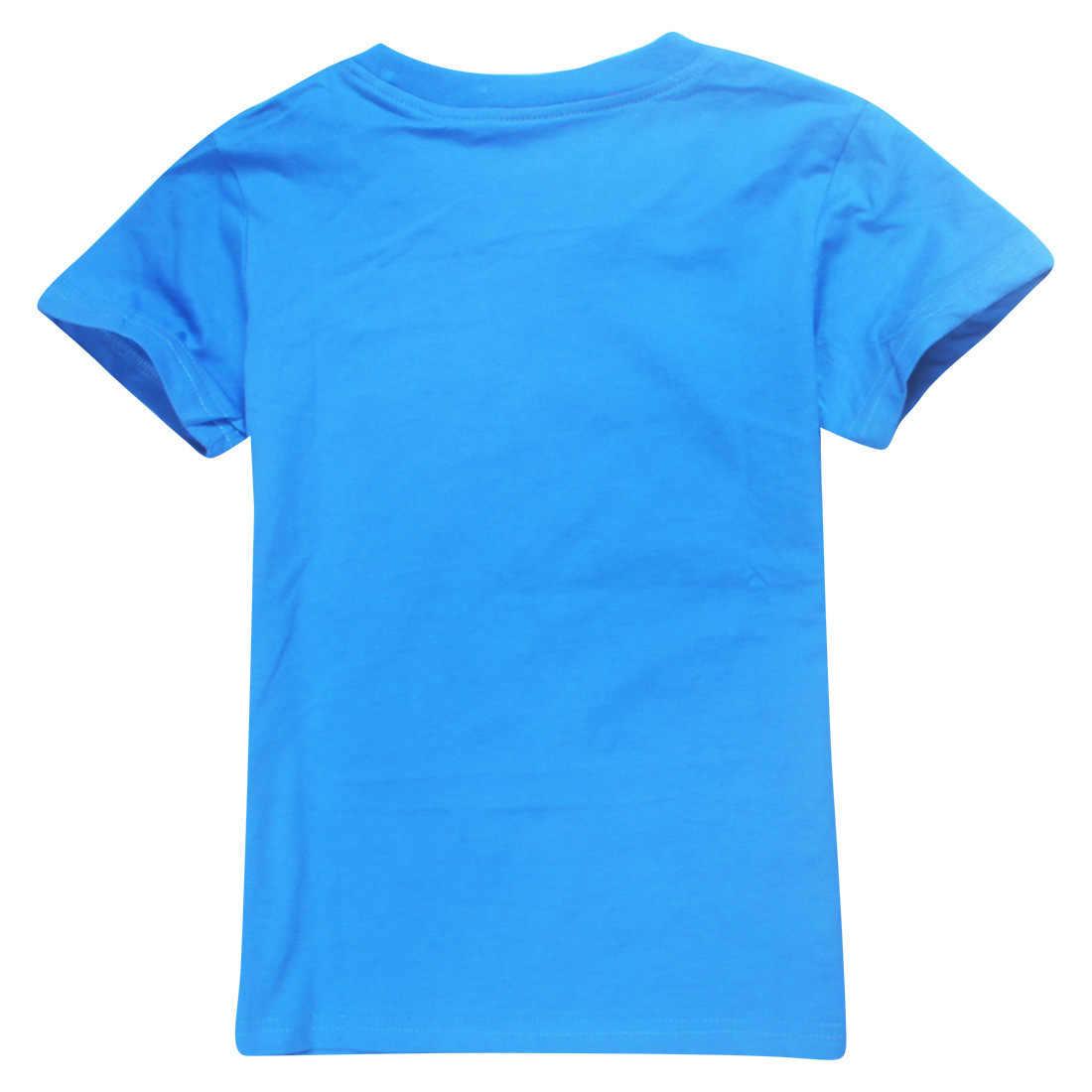 ROBLOX 어린이 의류 유아 소년 만화 복장 아기 소녀 여름 티셔츠 정장 2-16 년 어린이 의류 티셔츠 + 반바지 4pcs