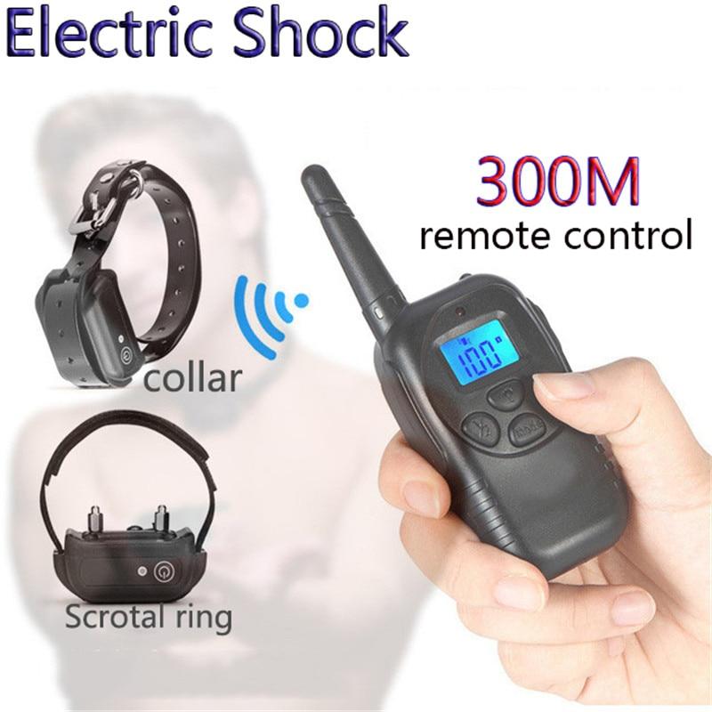 Control remoto inalámbrico Collar choque eléctrico anillo BDSM Bondage moderación esclavo fetiches para juegos adultos juguetes sexuales para un par de hombres