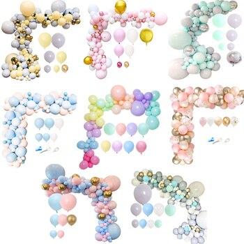 1 Juego de globos de color gris y rosa con diseño de macarrón, decoración para fiesta de boda y fiesta de bienvenida al bebé, suministros para revelar el género