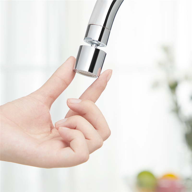 Diiib Kitchen Faucet Aerator Water Tap Nozzle Bubbler Water Saving Filter 360Degree Double Function 2-Flow Splash-proof