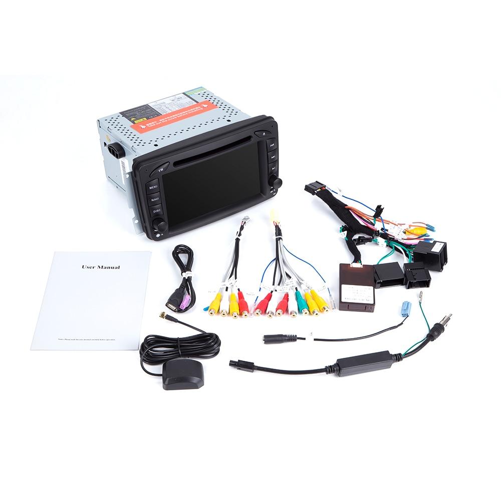Ips dsp 4 gb ram 2din android 9 leitor de dvd do carro para mercedes benz clk w209 w203 w463 w208 multimeida gps rádio estéreo câmera de áudio - 4