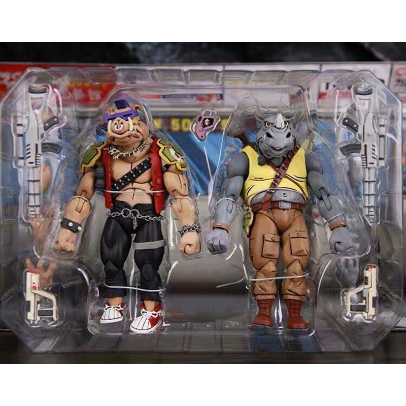 Anime Shredder Michelangelo Foot Solder Figure NECA Donatello Krang Bebop Rocksteady Turtle Action Figure Toy Gift image
