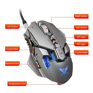 Image 3 - Gaming Mouse Wired USB Eat chicken mechanical mouse  3200dpi 7 key macro definition optical mouse usb X300