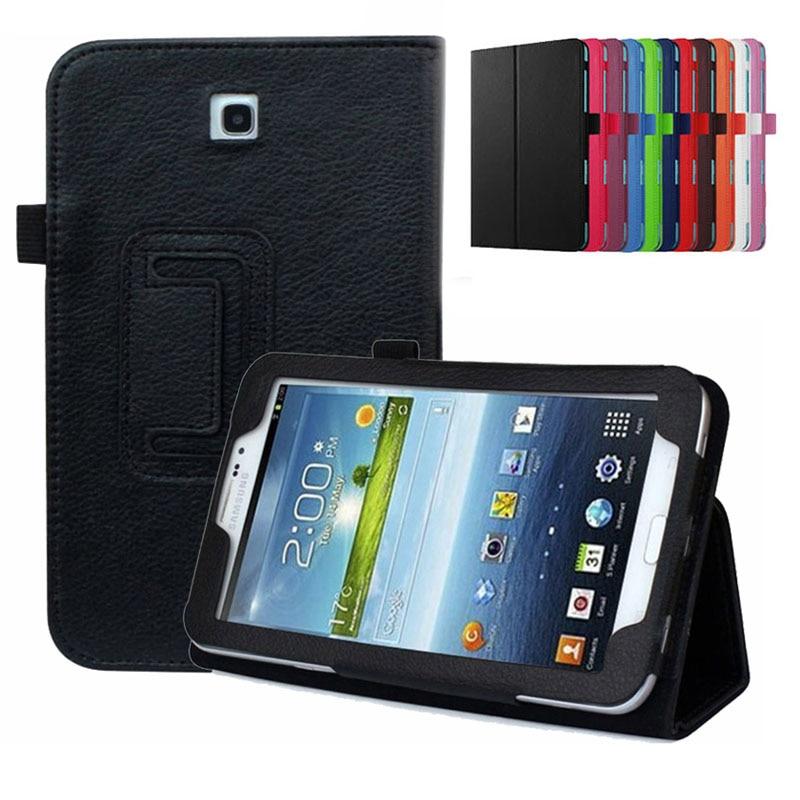 Чехол-книжка для Samsung Galaxy Tab 3 7,0 дюйма, флип-чехол T211 P3200, Магнитный смарт-чехол из искусственной кожи с функцией автоматического сна для Samsung ...