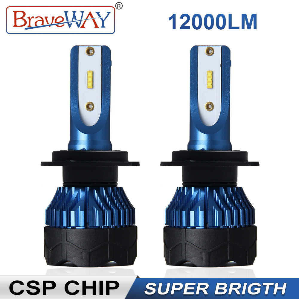 Braveway CSP Super Led Light Bulbs H4 H7 H11 Headlight Led Car Bulb 9005 9006 HB3 HB4 Led Light H7 Auto Lamp H4 Headlamp for Car