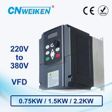 WK310 boost frequency converter Single-phase 220V to Three-phase 380V variable frequency inverter 0.75KW/1.5KW/2.2KW for motor стоимость