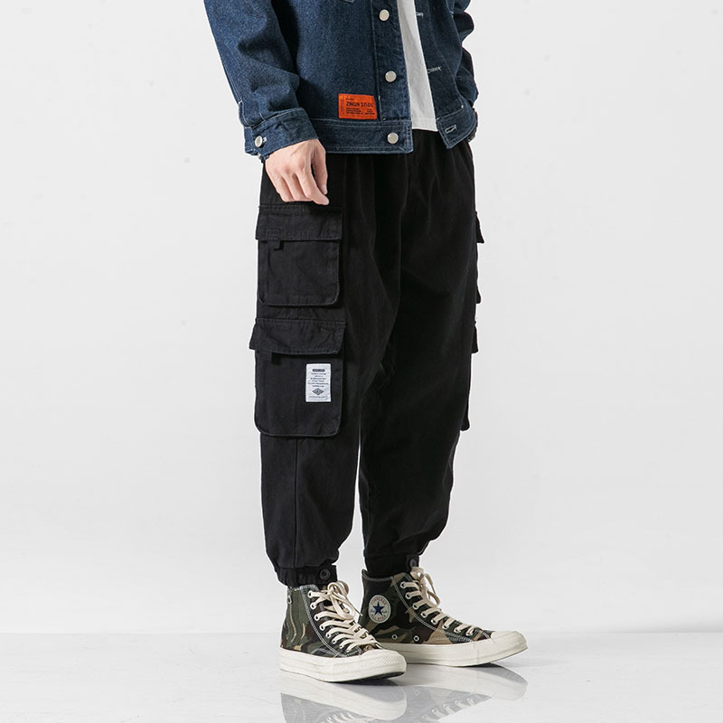 Autumn Street Fashion Street Men's Multi-pocket Overalls Youth Loose Casual Beam Casual Pants Tide