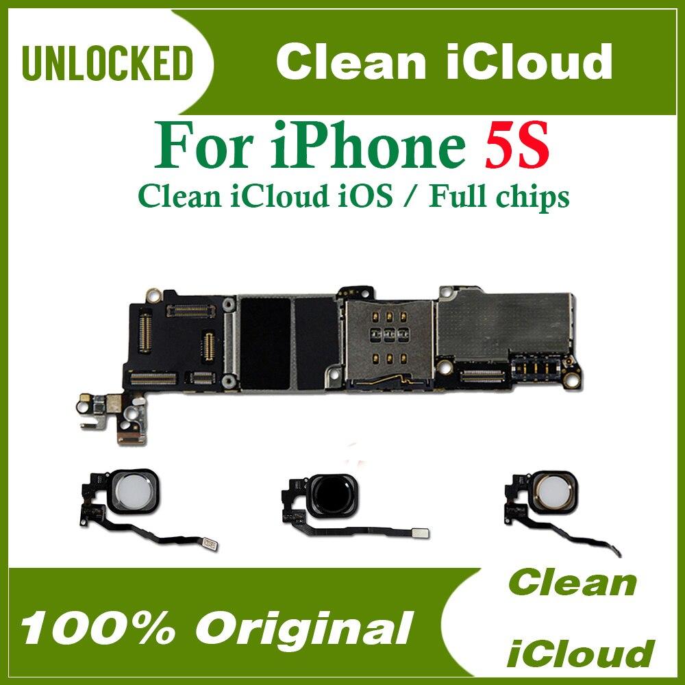 16 Гб/32 ГБ/64 ГБ для iphone 5s материнская плата без Touch ID,100% оригинальная разблокированная для iphone 5s материнская плата с чипами 16gb motherboard touch id5s touch id   АлиЭкспресс