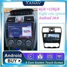 128g receptor estéreo de rádio do carro para subaru forester 2012-2015 android gps navegação vídeo hd tela de toque multimídia mp3 player