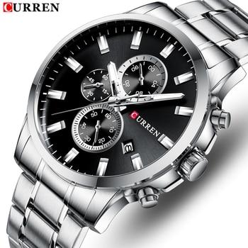 Curren 8348 Top Brand Luxury Watch Men Fashion Sports Men's Watch Waterproof Quartz Wristwatch With Box