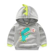 Детская одежда свитер для мальчиков с рисунком маленького динозавра повседневная детская толстовка